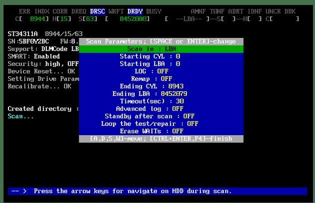 Исправление ошибок жесткого диска при помощи программы MHDD