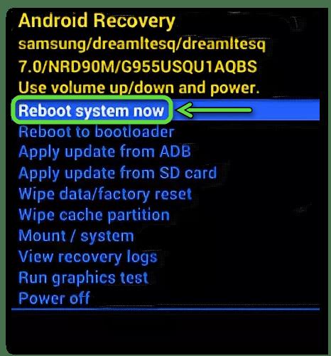 Перезагрузка устройства Samsung в Recovery Mode