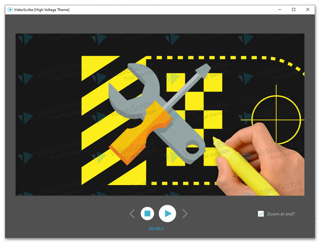 Sparkol VideoScribe предпросмотр создаваемой через программу видео-презентации