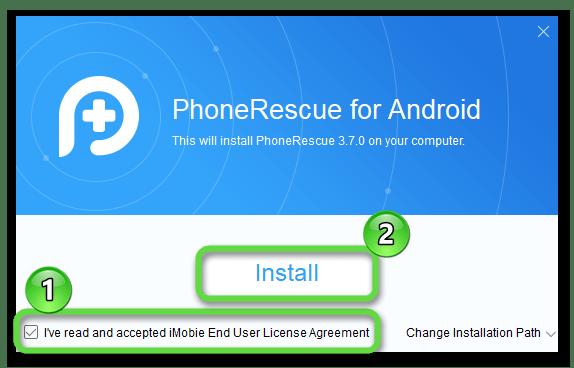 Установка PhoneRescue for Android на ПК