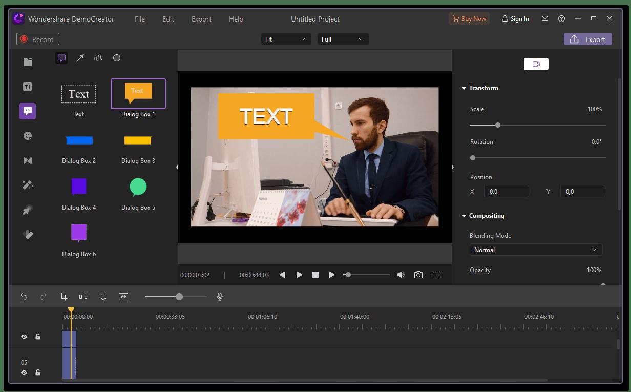 Wondershare Demo Creator редактирование записанного с помощью программы с веб-камеры видео
