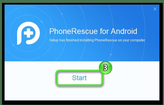 Запуск PhoneRescue for Android на ПК