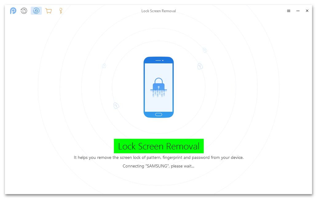 Завершение разблокировки экрана в PhoneRescue for Android