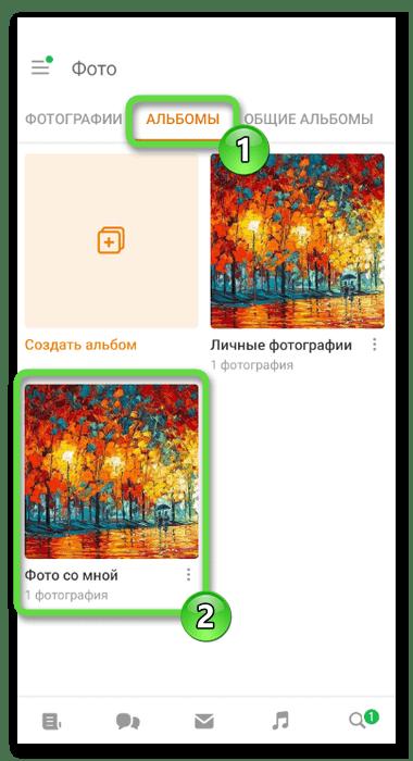 Выбор фото со мной для удаления фотографий в Одноклассниках через мобильное приложение