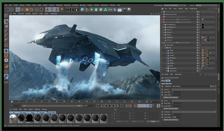 Анимация готового проекта в программе Cinema 4D
