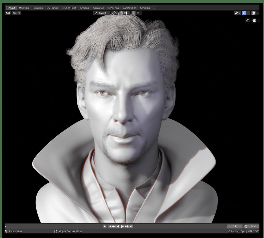 Использование Blender для скульптинга трехмерных моделей на компьютере