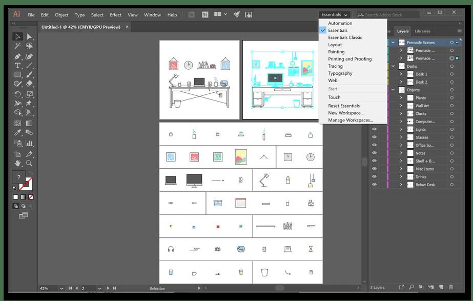 Использование программы Adobe Illustrator для создания векторной графики