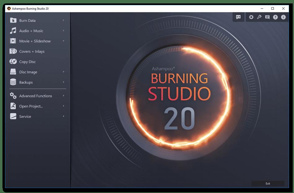 Использование программы Ashampoo Burning Studio для записи дисков