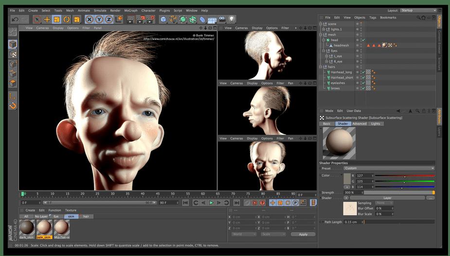 Использование программы Cinema 4D для 3D-моделирования на компьютере