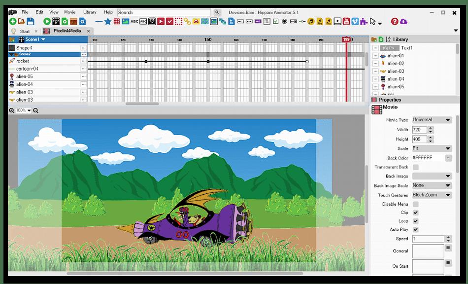 Использование программы Hippani Animator для анимации на компьютере