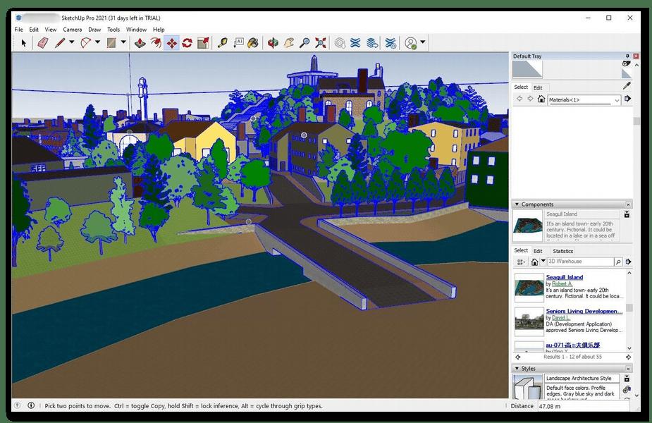 Использование программы SketchUp для объемного моделирования на компьютере
