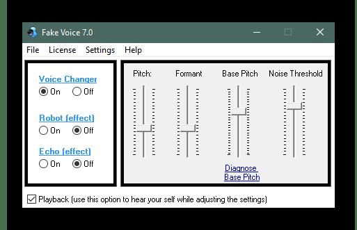 Изменение голоса в Fake Voice для использования в Discord