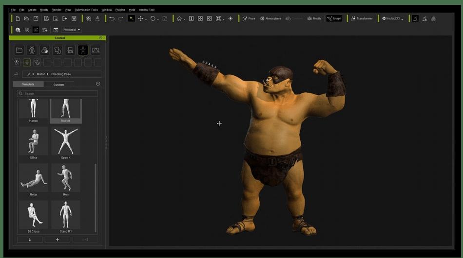 Настройка костей для анимации на компьютере в ZBrush