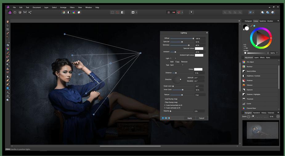 Редактирование изображений в программе Affinity Designer
