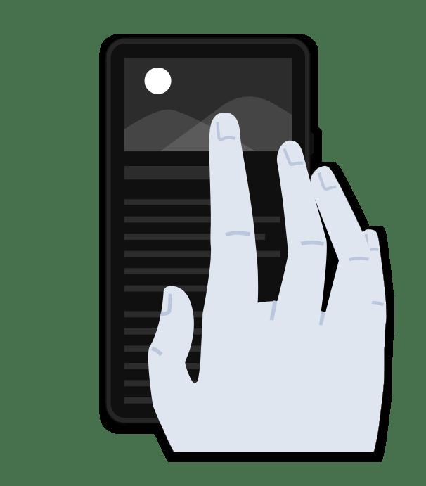 Создание скриншота при помощи жестов на мобильном устройстве с ОС Android