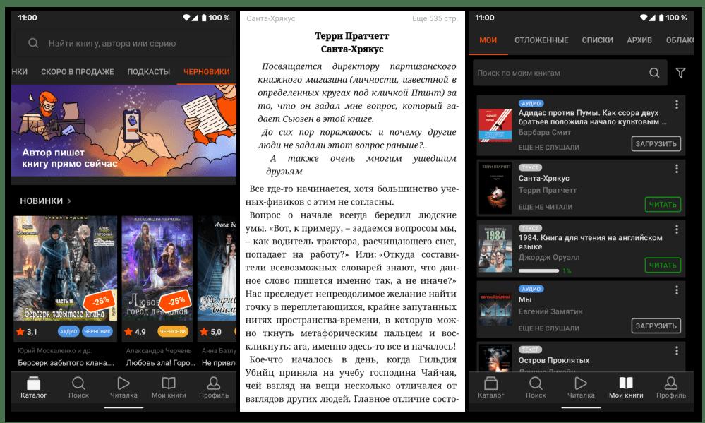 Достоинства и недостатки приложения для чтения книг ЛитРес Читай для Android