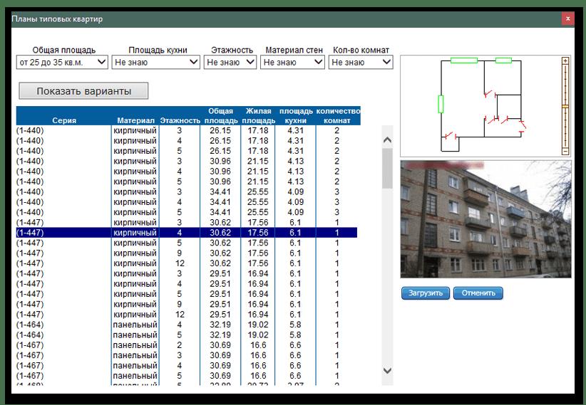 Готовые планировки квартир в программе Stolplit для дизайна интерьера
