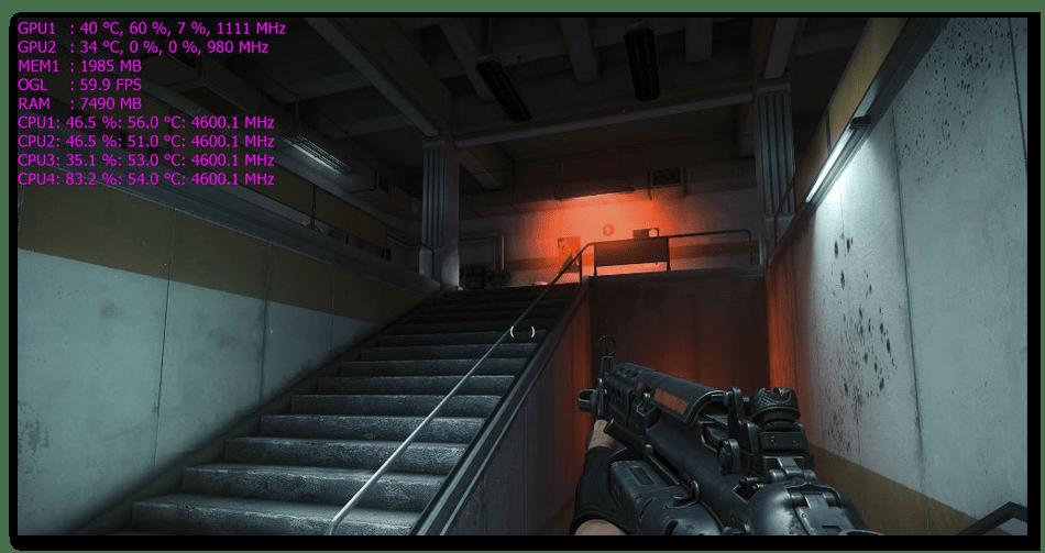Использование MSI Afterburner для мониторинга системы в играх