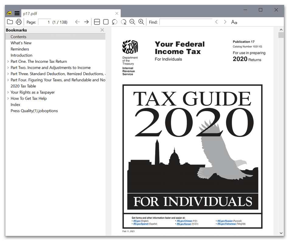Использование программы Sumatra PDF Viewer для чтения PDF-файлов