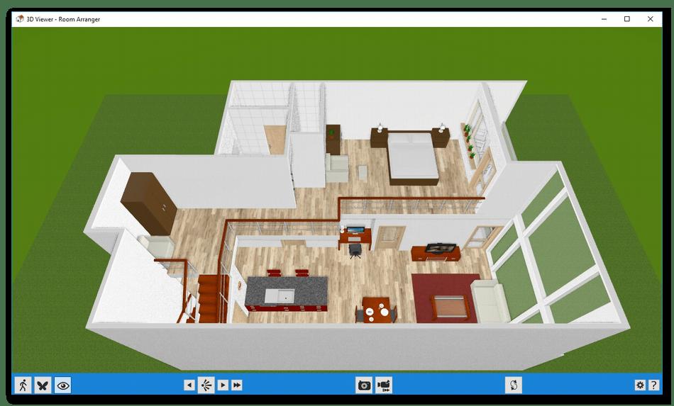 Использование визуализатора в программе дизайна интерьера в Room Arranger