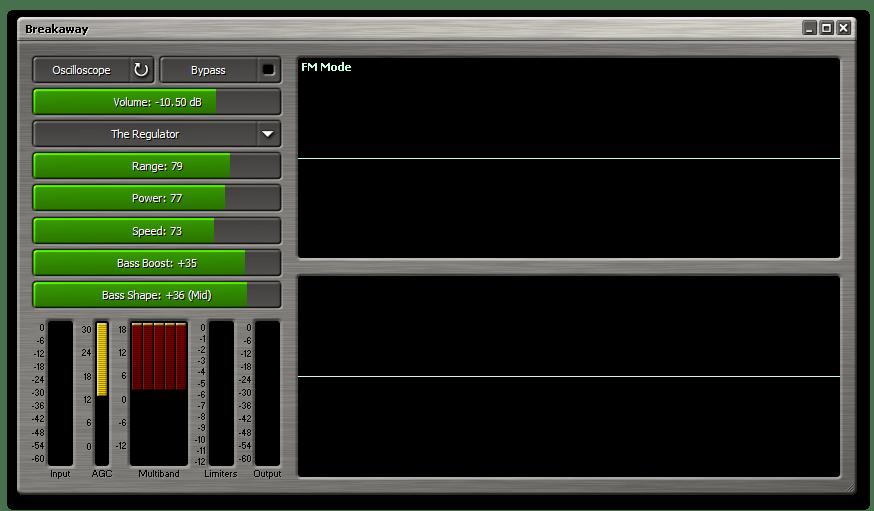 Настройка звука с помощью программы Breakaway