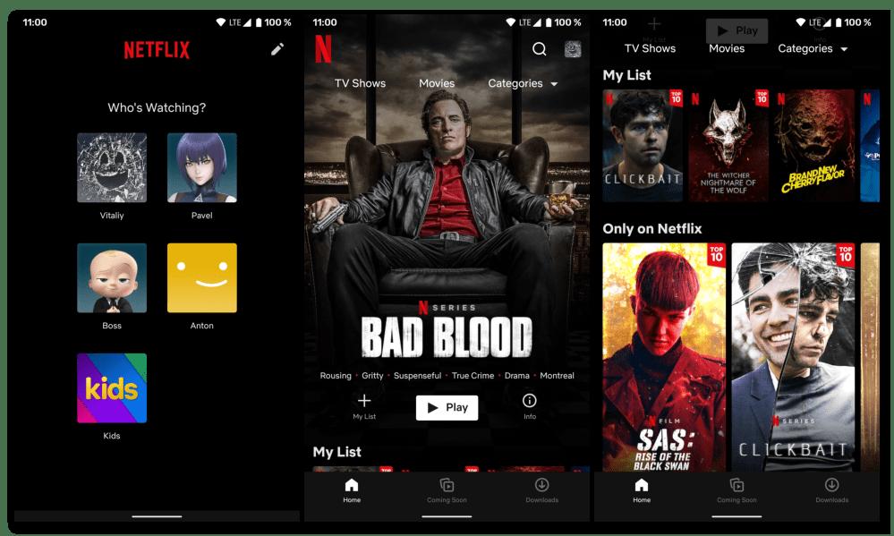 Приложение для просмотра фильмов на Андроид Netflix