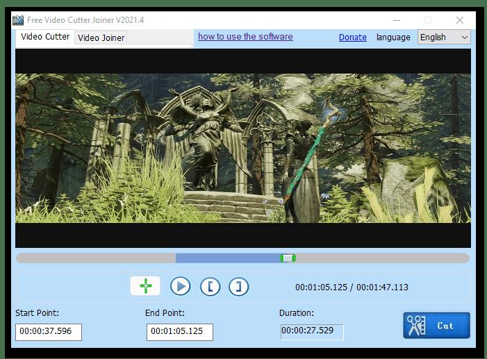 Окно программы Free Video Cutter Joiner